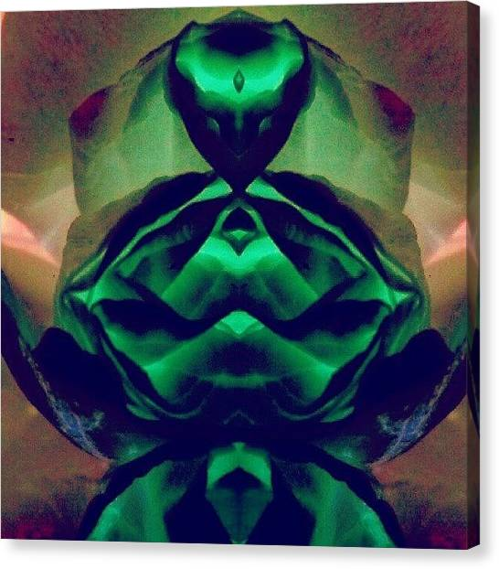 Droid Canvas Print - The Emerald Queen - Gem Colored by Marianne Dow