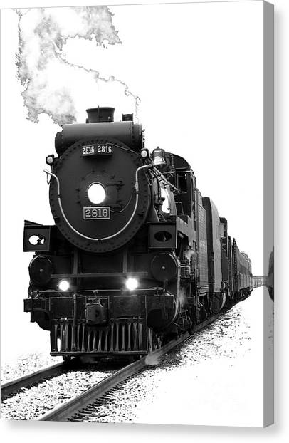 Trains Canvas Print - The Empress by Vivian Christopher