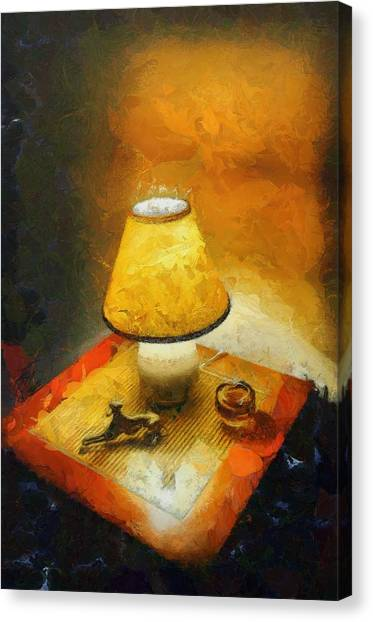 The Evening Lamp Canvas Print