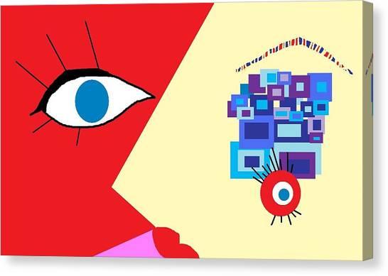 The Eyes Meet Canvas Print by Miriam Lopez