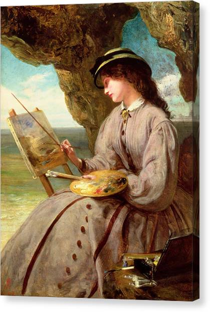 Woman Cave Canvas Print - The Fair Amateur by Abraham Solomon