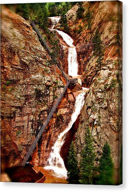 The Falls Canvas Print by Amber Hennessey