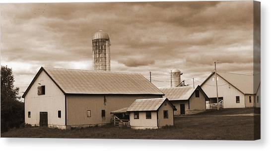 The Farm Canvas Print by Barry Jones