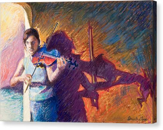 The Fiddler From Julliard Canvas Print