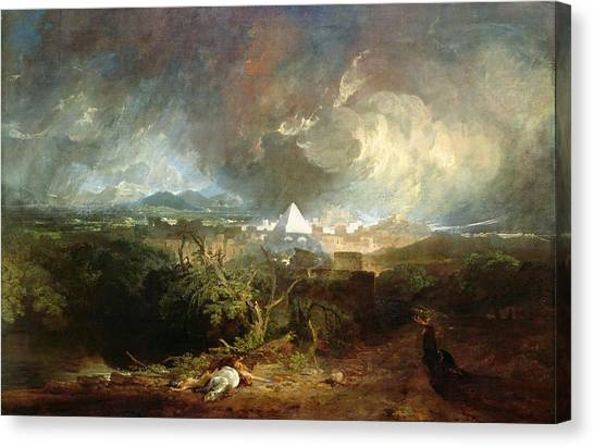Passover Canvas Print - The Fifth Plague Of Egypt by Joseph Mallord William Turner