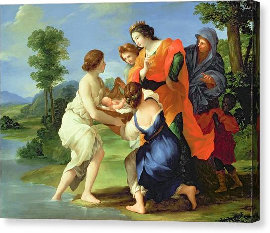Torah Canvas Print - The Finding Of Moses by Il Viterbese