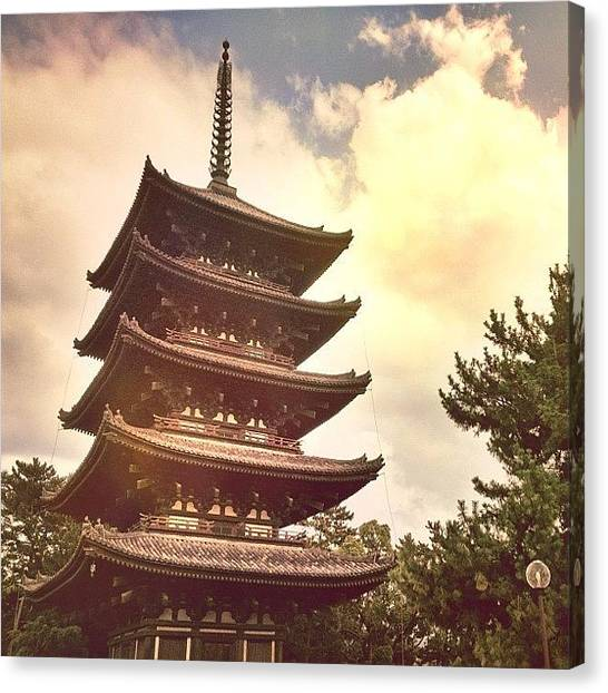 Judaism Canvas Print - The Five Story Pagoda At Kōfuku-ji In by Brad Kremer