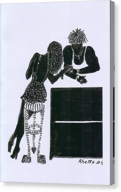 The Flirt Canvas Print by Rhetta Hughes
