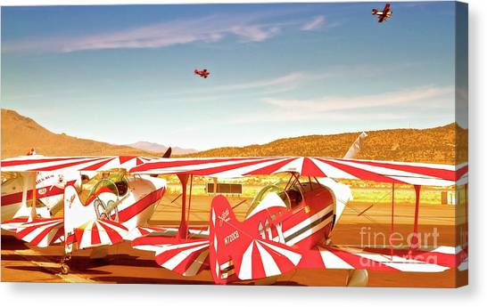 The Flying Circus Reno Air Races Canvas Print