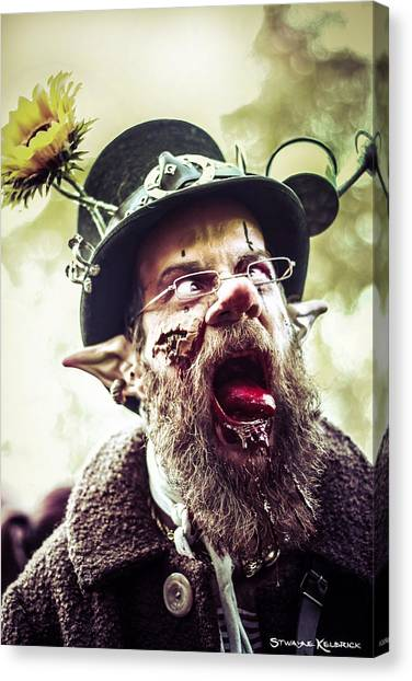 Canvas Print featuring the photograph The Fool Goblin by Stwayne Keubrick