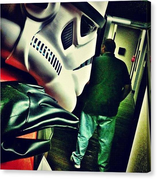 Stormtrooper Canvas Print - the Force Is Strong In That One, Get by Glen Campbell