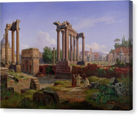 The Forum Canvas Print - The Forum Rome  by Gustav Palm