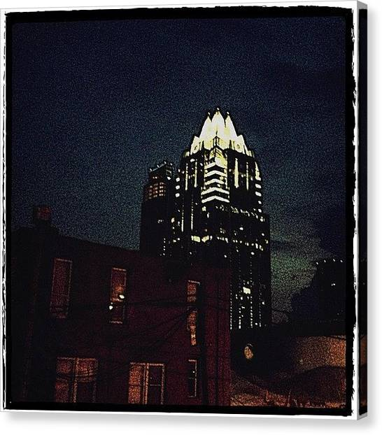 Austin Canvas Print - The Frost Bank Tower by Natasha Marco