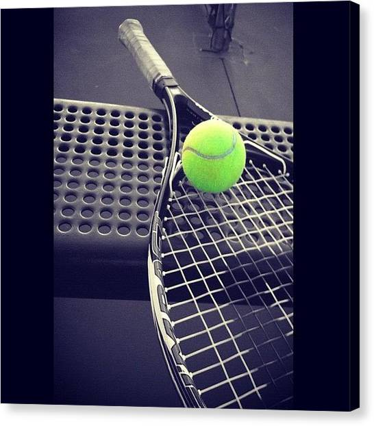 Tennis Ball Canvas Print - The Game by Kandace Watts