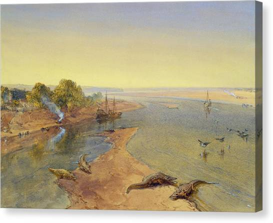 Ganges Canvas Print - The Ganges by William Crimea Simpson
