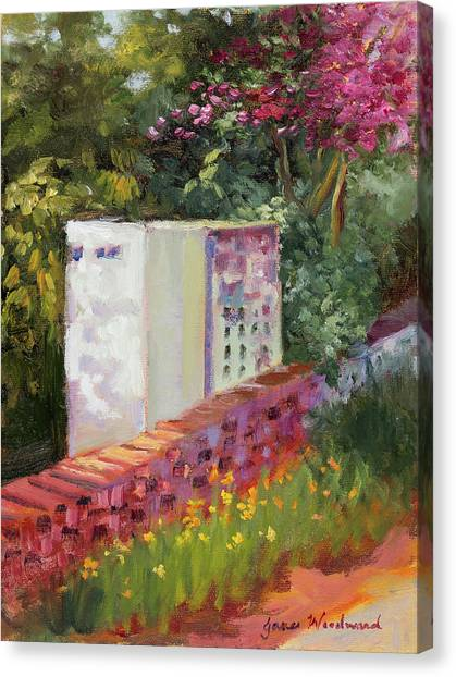 Canvas Print - The Garden Wall by Jane Woodward
