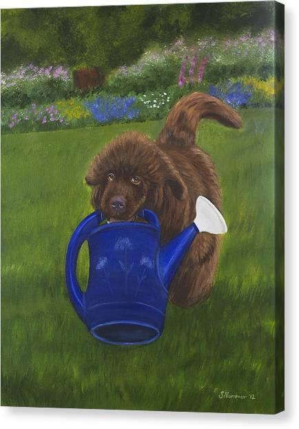 The Gardening Assistant Canvas Print