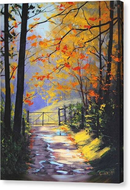 Maple Tree Canvas Print - The Gate by Graham Gercken