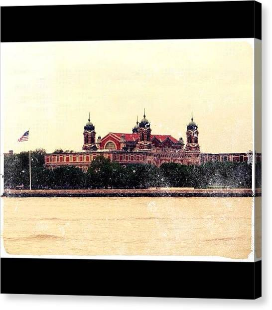 Immigration Canvas Print - The Gates Of Our Nation 🚢🗽🇺🇸 by Luis Alberto