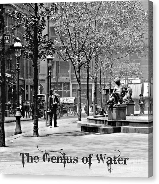 The Genius Of Water 1906 Canvas Print by Padre Art