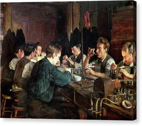 Factory Canvas Print - The Glass Blowers by Charles Frederic Ulrich