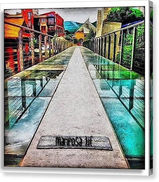 Edit Canvas Print - The Glass Bridge by Mari Posa