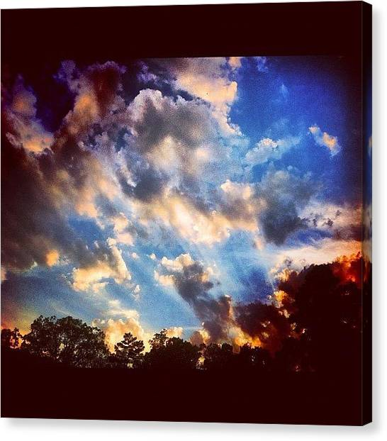 Arkansas Canvas Print - the Glow From Within #sunset #ig by Roger Snook