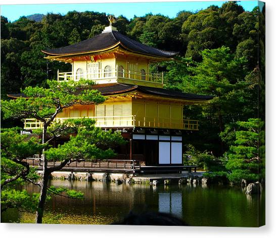 The Golden Temple In Kyoto Canvas Print