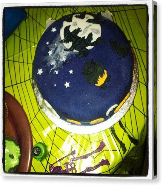 Witches Canvas Print - The #gorgeous #halloween  #cake Made By by Bee Mcmahon