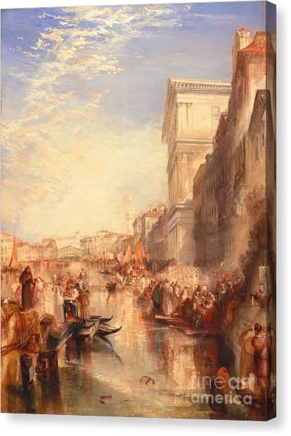 Romanticism Canvas Print - The Grand Canal Scene - A Street In Venice by Joseph Mallord William Turner