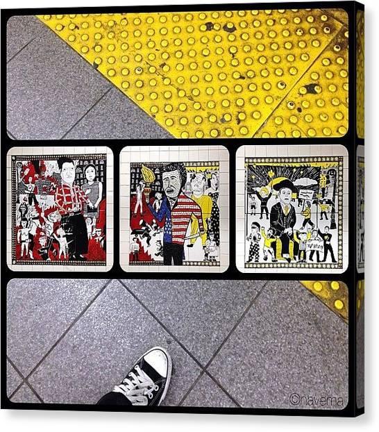 Subway Canvas Print - the Greenwich Village Murals: The by Natasha Marco