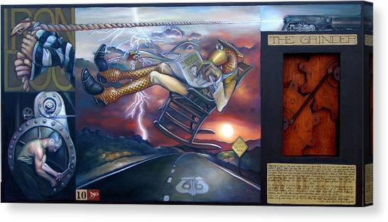 Wrenches Canvas Print - The Grinder by Patrick Anthony Pierson