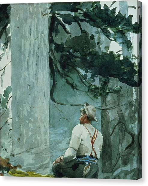 Woodsmen Canvas Print - The Guide by Winslow Homer
