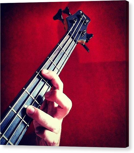 Bass Guitars Canvas Print - The Guitar #guitar #bass #music #ibanez by Lucy Siciliano