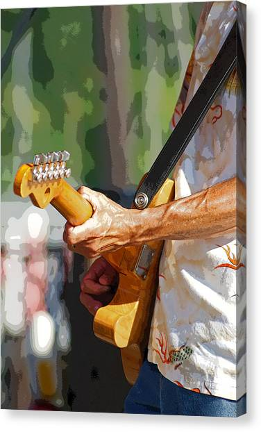 The Guitar Player Canvas Print by Margie Avellino