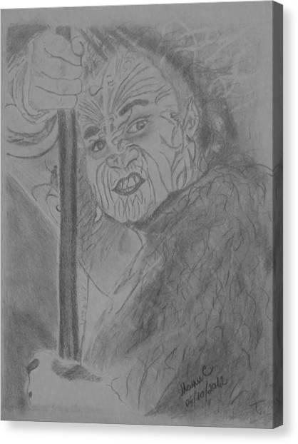 The Haka Dancer Canvas Print