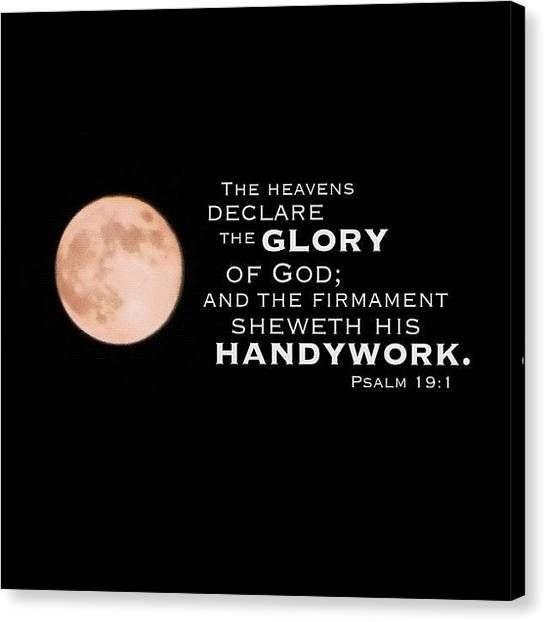 Hearts Canvas Print - the Heavens Declare The Glory Of God: by Traci Beeson