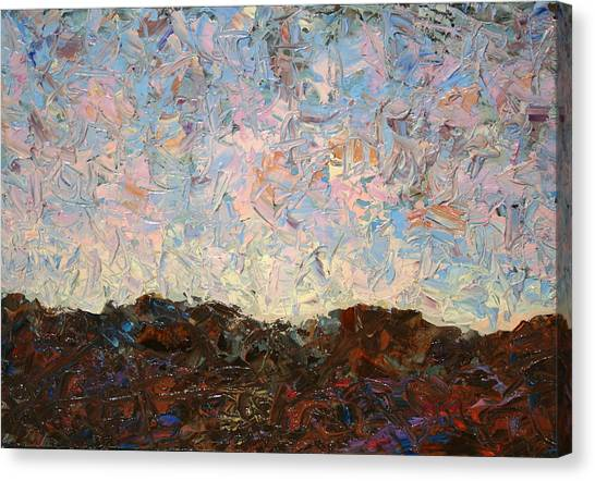 Knife Canvas Print - The Hills by James W Johnson