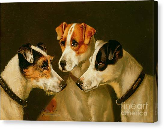 Dogs Canvas Print - The Hounds by Alfred Wheeler