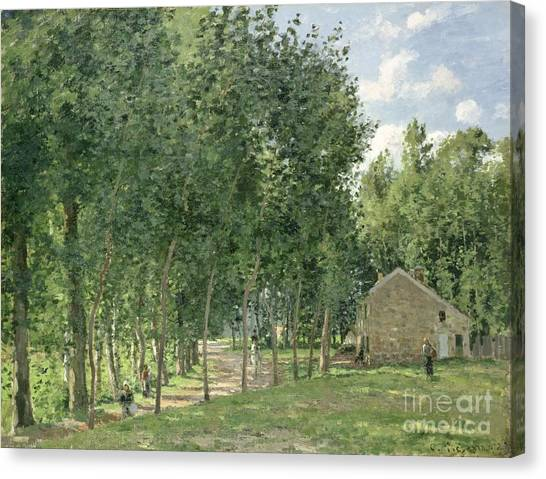 Camille Canvas Print - The House In The Forest by Camille Pissarro