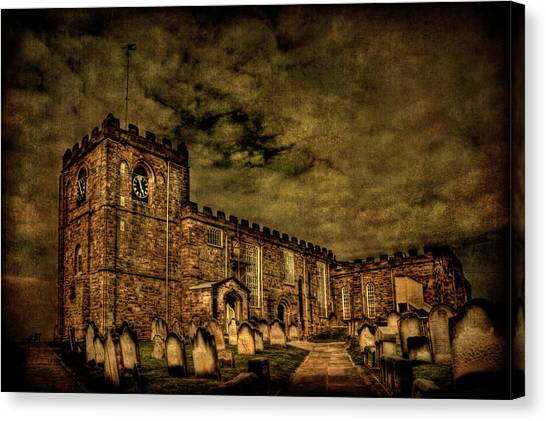 Cemetery Canvas Print - The House Of Eternal Being by Evelina Kremsdorf