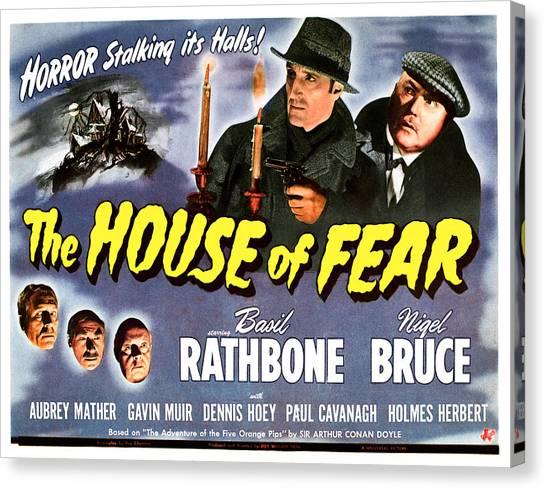 1945 Movies Canvas Print - The House Of Fear, Aka Sherlock Holmes by Everett