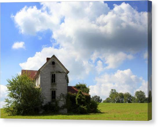 The Haunted House Canvas Print - The House On The Hill by Karen Wiles
