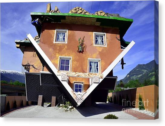 The House Upside Down Canvas Print