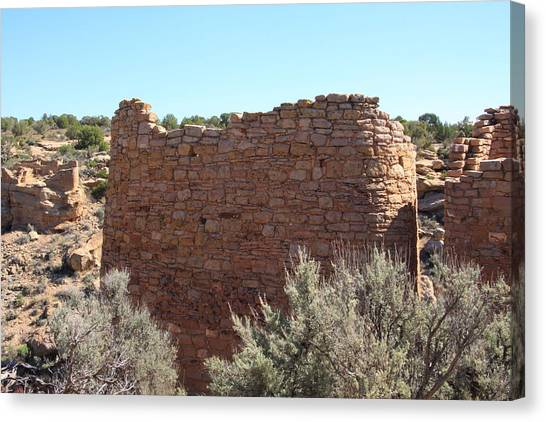 The Hovenweep Twin Towers Canvas Print by Cynthia Cox Cottam