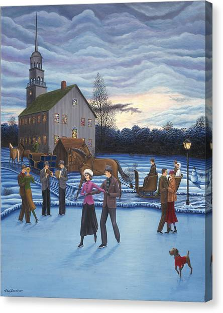 The Ice Skaters Canvas Print