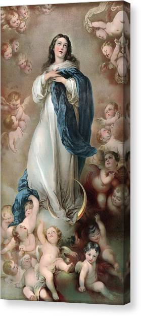 The Immaculate Conception, Depicting Canvas Print by Everett