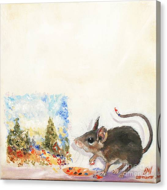 The Impressionist Mouse Canvas Print by Stella Violano