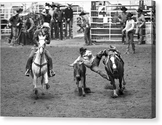 The Jumping Cowboy Canvas Print