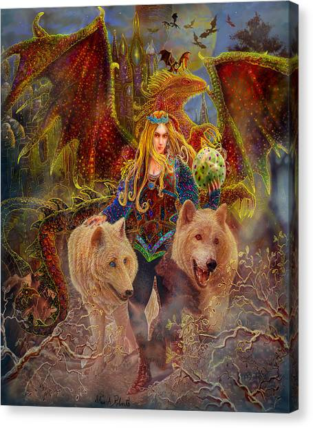 The Keeper Of The Egg Canvas Print